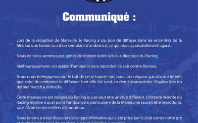 Communiqué RCS – Rennes 27/11