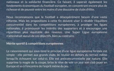 Communiqué Football Supporters Europe